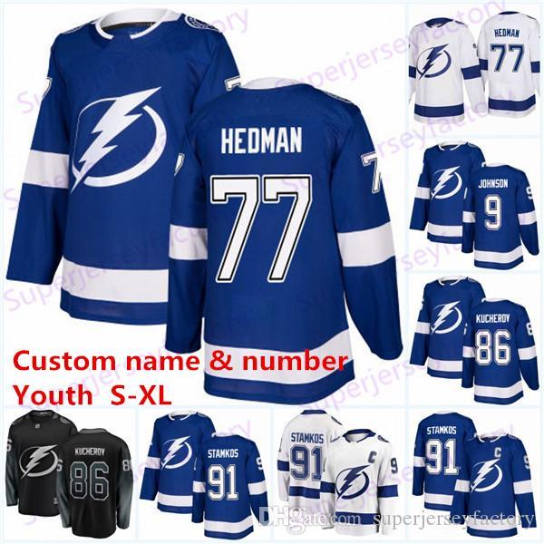Juvenil 77 Victor Hedman Tampa Bay Lightning 86 jerseys Nikita Kucherov 91 Steven Stamkos 21 Brayden Punto 86 Nikita Kucherov 88 Vasilevski