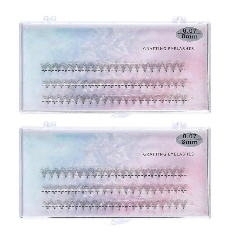 2pcs 8/10/12mm Curl Natural Individual Cluster Eyelash False Eyelashes Extension
