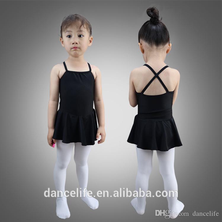 Barn camisole ballett klänning med en scoop front c2123 grossist dans skirted leotard rabatt