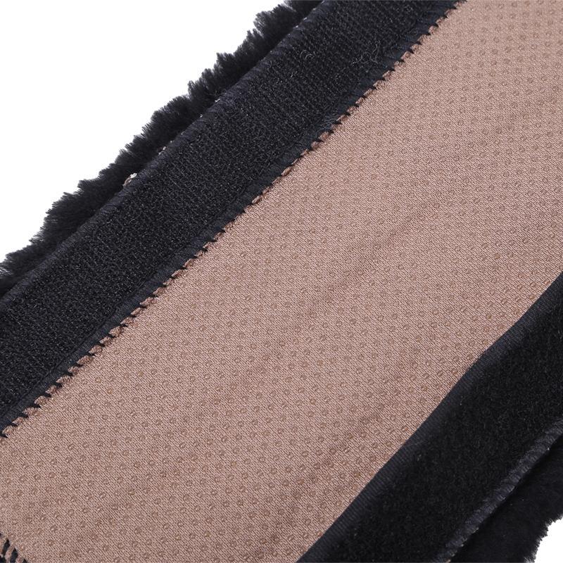 Soft Shoulder Pad Neck Cushion Protector 2 Pack Automotive Authentic Sheepskin Car Seat Belt Pads Genuine Natural Merino Wool MIsty Gray Henan OG Land
