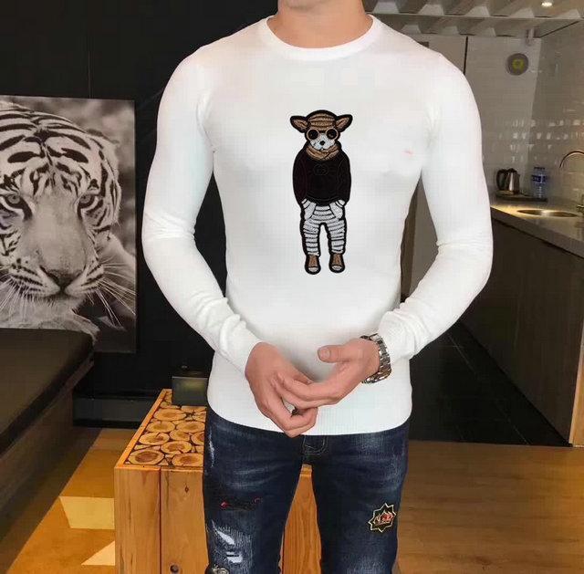 Pullover für Herren Animal Print Pullover mit Rundhalsausschnitt Einfacher, mehrfarbiger Pullover in der Top-Größe M-3XL
