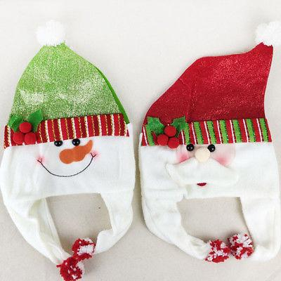 1pcs Santa Kırmızı Peluş Noel Hat Yetişkin Tatil Kostüm Şapka Parti Noel Baba Kostüm Caps