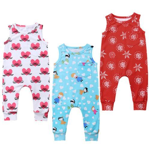 Enfant nouveau-né Enfant Bébé Garçon Fille Romper Jumpsuit Vêtements tenue de Noël Cartoon Printemps Automne manches longues
