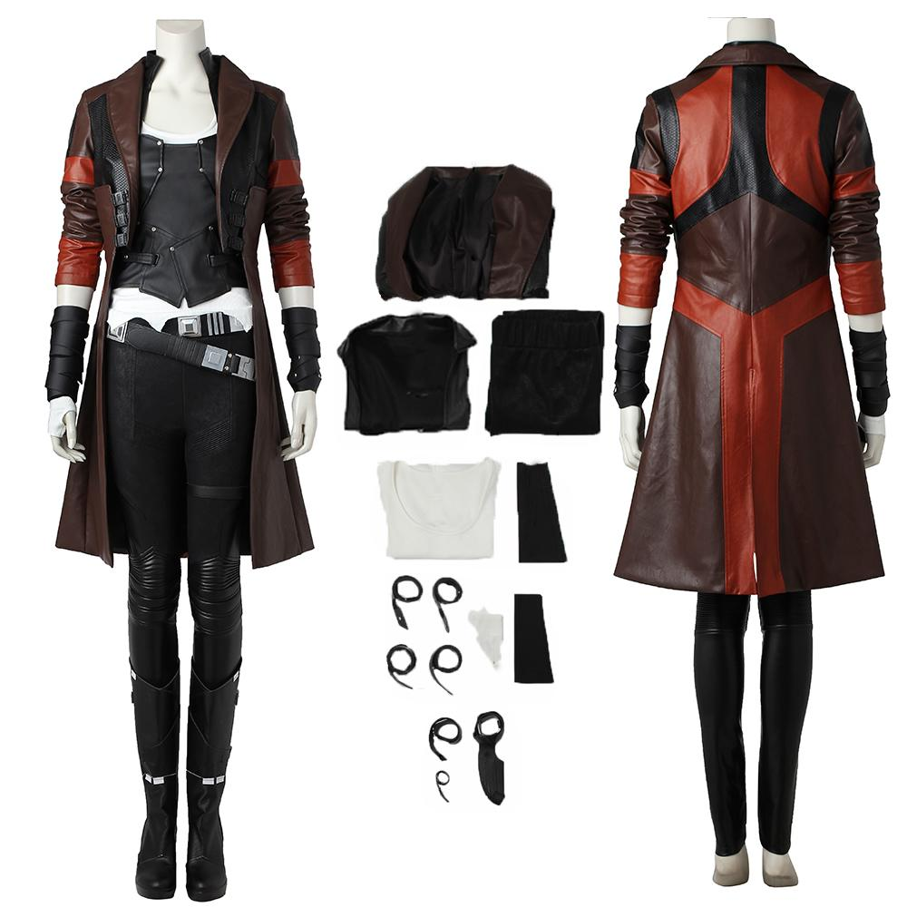 Gamora Costume Guardians of the Galaxy Vol. 2 Cosplay Gamora Zen Whoberi Ben Titan Full Set