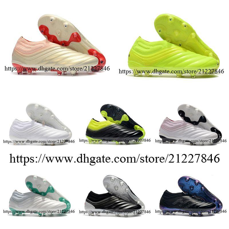 جديدة كوبا 19+ FG جلدية أحذية كرة القدم أحذية المدربين الرجال عالية الجودة Laceless في الهواء الطلق لكرة القدم المرابط الأخضر أسود أبيض الشمبانيا 39-46