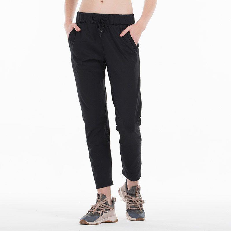النساء تجريب الجري طماق 4 طريقة تمتد النسيج سوبر الجودة السراويل اليوغا مع جيوب جانبية الجوارب الرياضية في الهواء الطلق