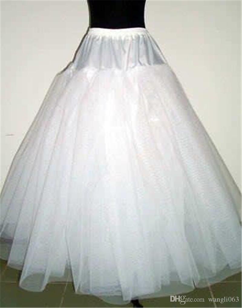 Una linea 4 strati NO Hoop netto sottoveste Underskirt per Wedding Prom Quinceanera regolabile Taglie Crinoline