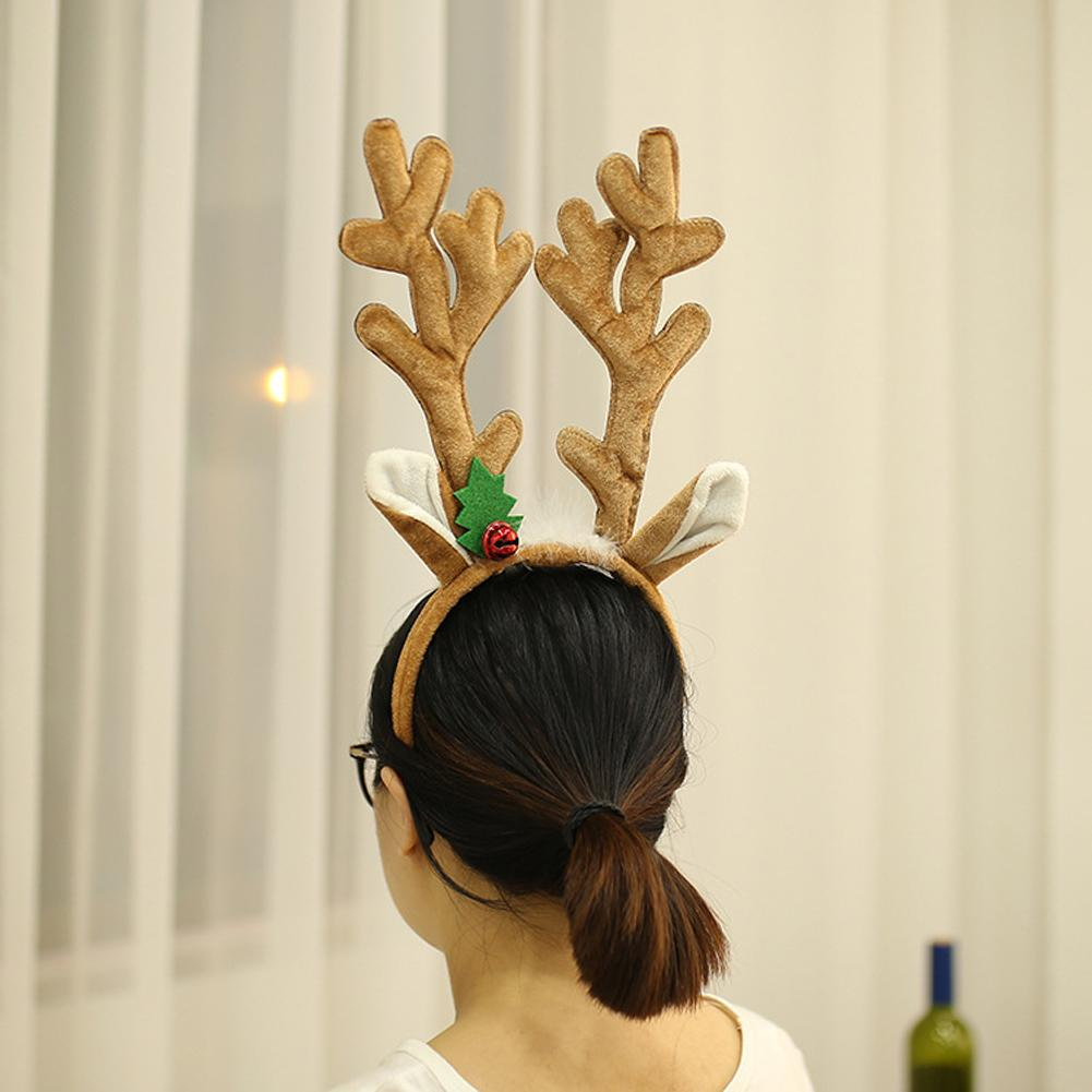 Christmas Deer Antlers Hair Head Band Prop Xmas Costume Party Cosplay Gift