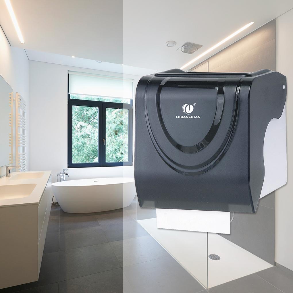 المرحاض حامل ورقة من البلاستيك نسيج مقاوم للماء حالة التخزين الحائط لفة ورق الصيدلي