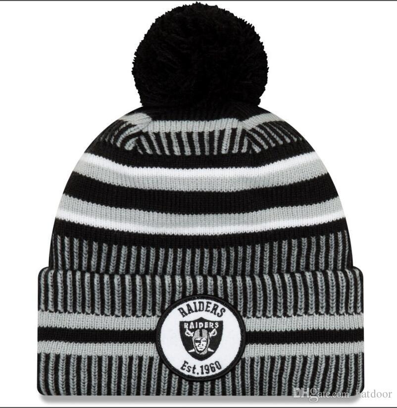 Yeni Sideline Beanies Kafatası Şapka Amerikan Futbolu 32 takım Spor kış yan çizgisi örgü bereler Beanie Örgü Şapka fabrika fiyatı Caps