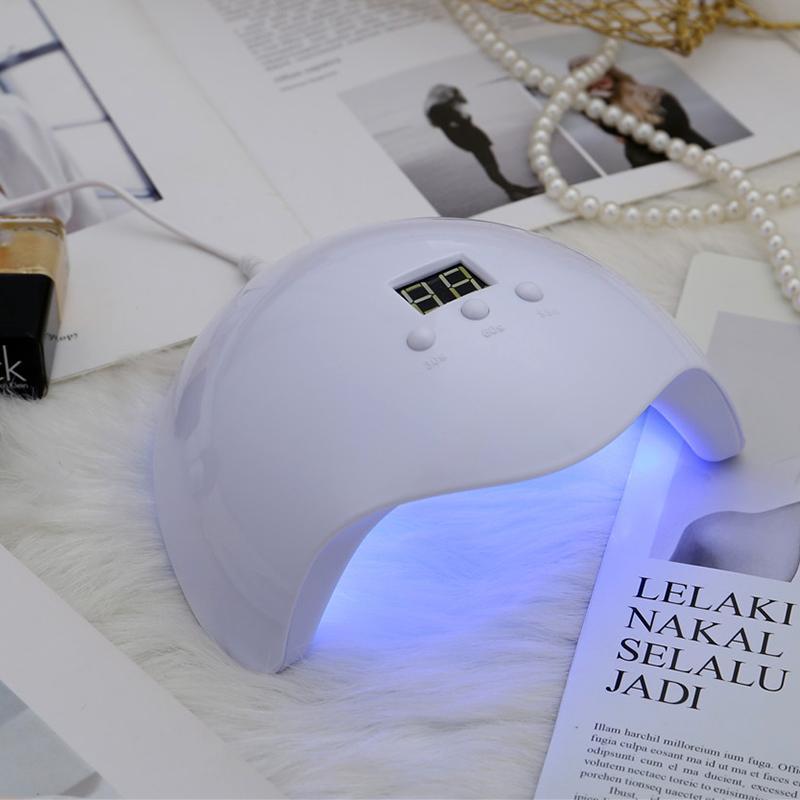 لطيف مسمار مصباح أبيض مجفف هلام الأشعة فوق البنفسجية طلاء الأظافر للأشعة فوق البنفسجية / بقيادة / الغراء باني 36W المصابيح المسامير كابل USB