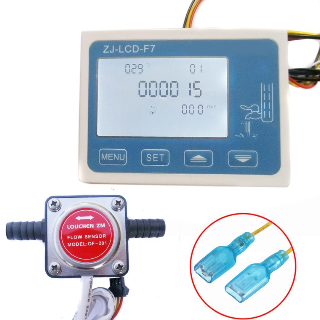 1Pcs 12-24V LCD Medidor de flujo de medidor de flujo de combustible digital con sensor de flujo de engranaje de gasolina de 13 mm de alta calidad