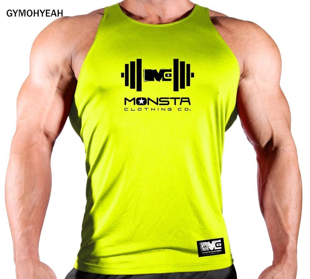 Y200509 yelek moda fanila GYMOHYEAH Marka Hızlı kuruyan Giyim vücut geliştirme Spor Salonları kolsuz bluz erkekler Spor Kolsuz Gömlek Pamuk erkekler