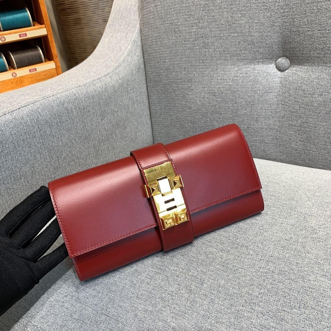 nuova signora calda del progettista cuoio borsa da sera di alta classe hardware pochette casuale piccola borsa moda Designer-2020