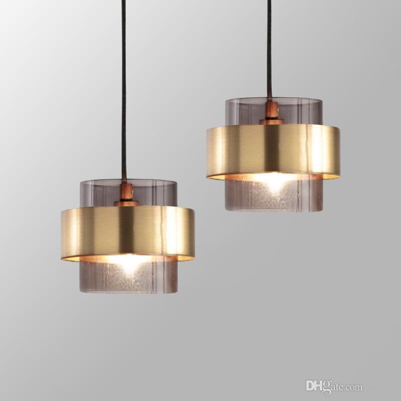 Nordic Minimalistinist Golden LED Pendelleuchten Wohnzimmer Restaurant Single Head Hängen Lampe Schlafzimmer Nacht Bar Kaffee Fixes
