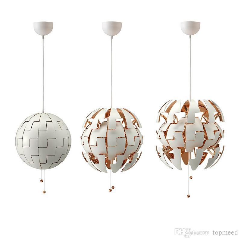 Nordic LEVOU Globo Pingente Luzes Globais Luminária Ajustável de Ouro Sala de estar Deco Luminária Esfera Pendurado Luminárias Transformable