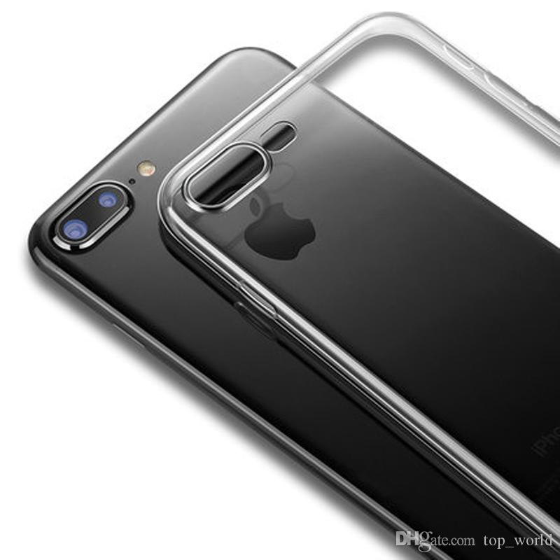 투명 실리콘 소프트 TPU 케이스 7 7Plus 8Plus X XS MAX XR 투명 전화 케이스 아이폰 (12) 미니 (12) 프로 맥스