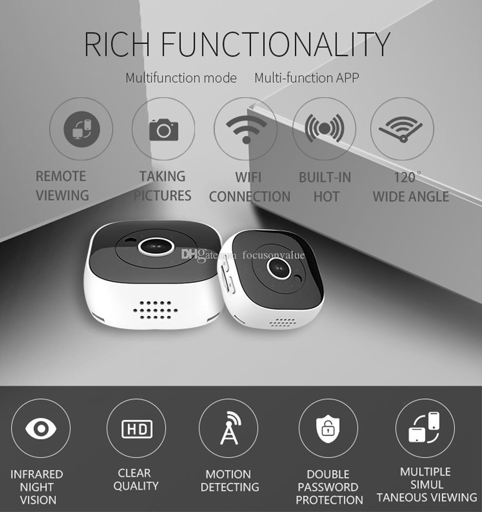 Kablosuz WiFi Mini P2P IP kamera H9 Full HD 1080P gece görüş spor DV DVR desteği hareket algılama ev güvenlik gözetim kamera