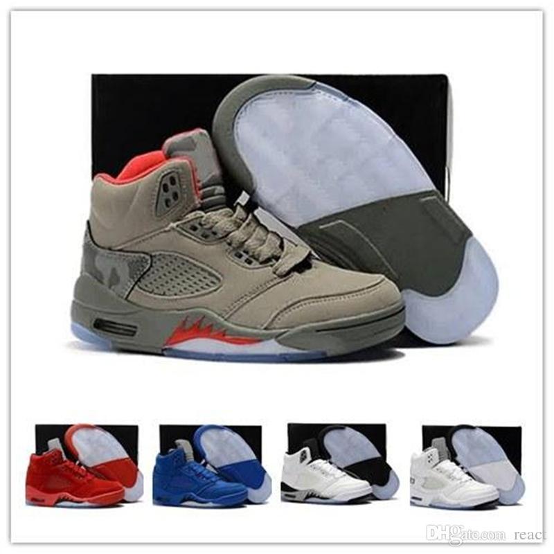 5s Casual Shoes 75 nike Jordan Jordans air jordan jordans retro Retro 5 Retro Uomo Nero Metallizzato 3M Reflect Black Grape Oreo Uomo Rosso Suede CDP White Cemento psg Sports Shoe Sneaker 7-13 us