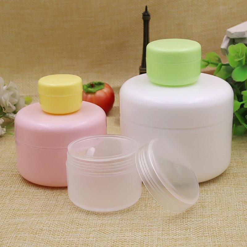 200PCS recarregáveis garrafas cara Viagem Creme Loção cosmética recipiente plástico Maquiagem vazio Jar Pot 10/20/50 / 100g