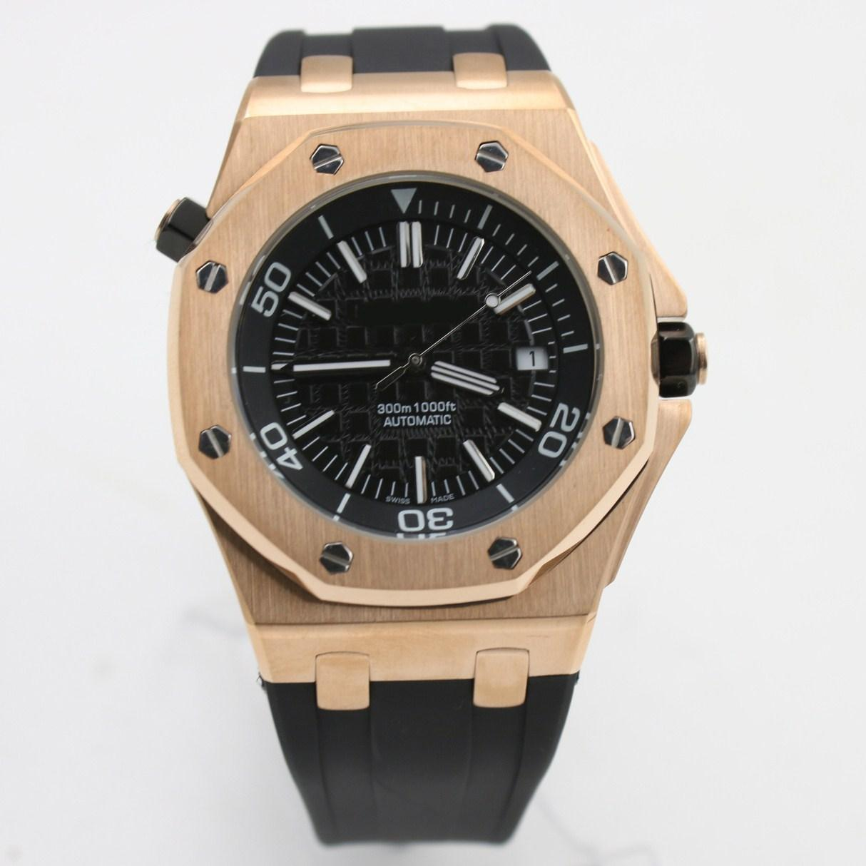 Top Quality wirstwatch men 42mm Automatic machinery watch sweeping movement False watches for men