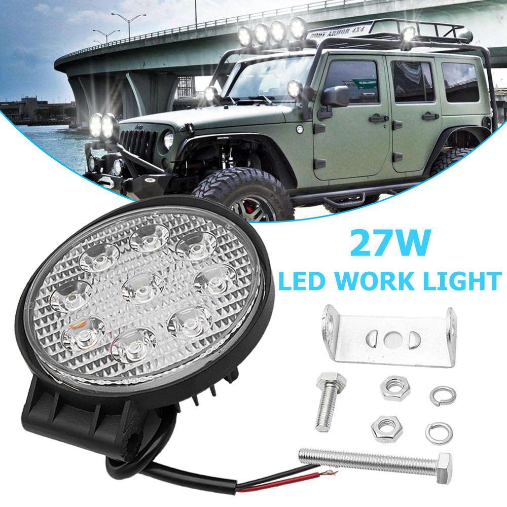 자동차 트럭 27W LED 작업 스포트 라이트 홍수 운전 밝은 전구 SUV Super Thin