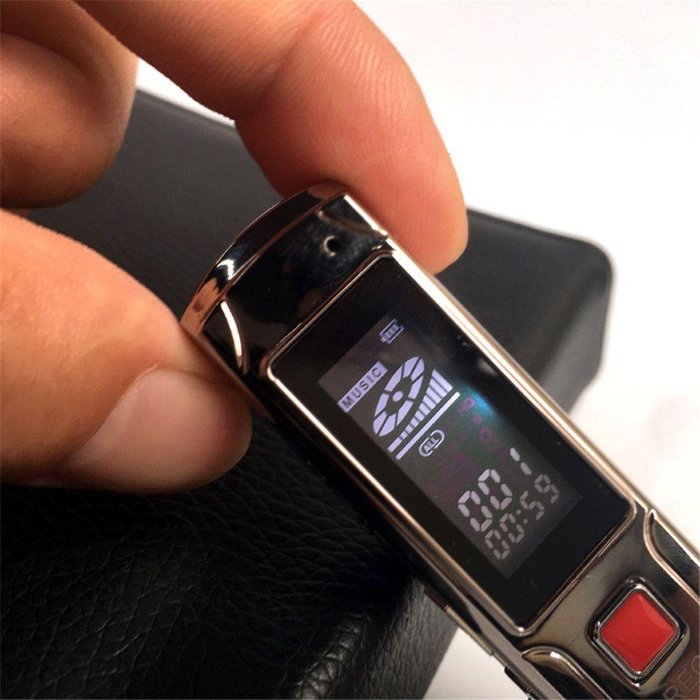 mini-voix long enregistrement mini enregistreur d'enregistrement stéréo en acier de 8 Go Digital Audio Pen Lecteur mp3