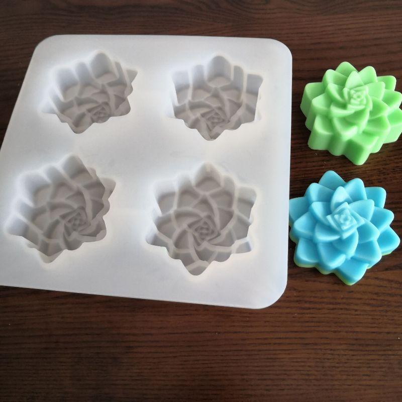 O envio livre suculentas sabão gel de sílica planta do molde de gesso da vela molde único furo capacidade 90g