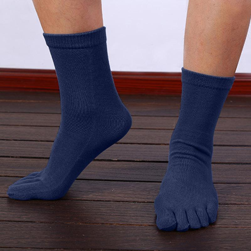 New 1 paire d'été respirant pur sport de basket-ball de Toe Cotton Men Socks Five Finger Drop Shipping