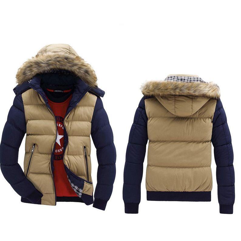 Les hommes d'hiver Designer vers le bas Manteaux 2020 Mode Nouveau Arrivée Contraste Couleur Vestes Homme luxe Silm capuche Manteaux Parkas