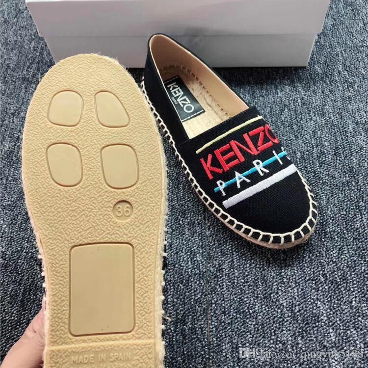 اليدوية أزياء المرأة قماشية الصياد التطريز النمر باريس قماش حذاء عارضة النساء احذية السيدات شقة الانزلاق على أحذية اللباس 35-41