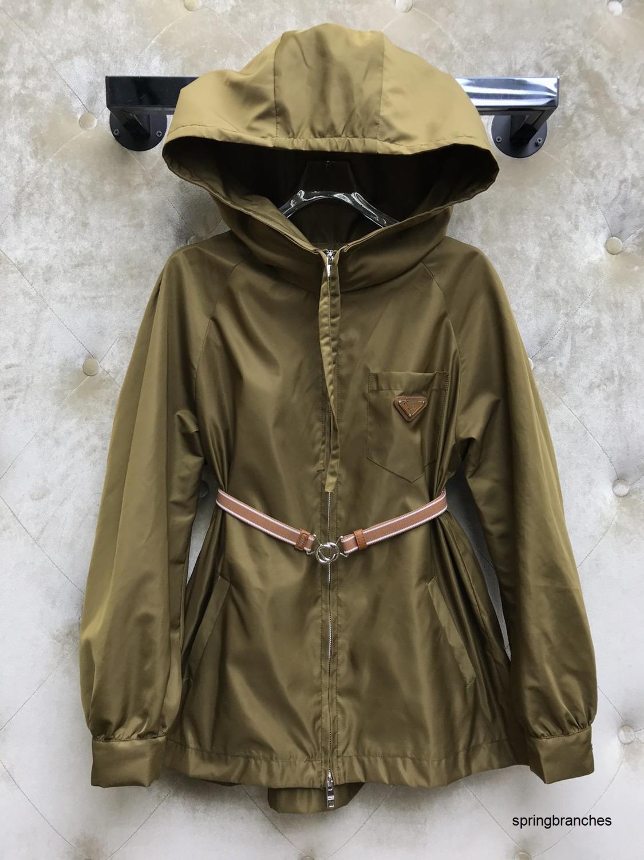 Primavera Verano serie nueva moda clásica Casual chaqueta al aire libre de las mujeres cinturón desmontable 040503