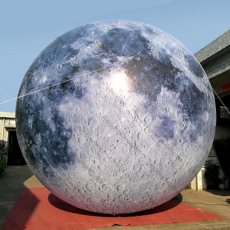 شحن مجاني حار بيع 3M الإضاءة كوكب بالون الإعلان نفخ الكرة، العملاق الديكور نفخ ادى القمر