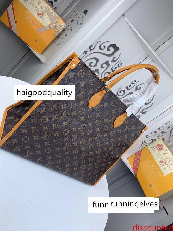 # 9557 5A L Marque V OnTheGo Sacs fourre-tout sac à main femme mode classique d'embrayage poignée supérieure sac de soirée en cuir véritable grande capacité Sac