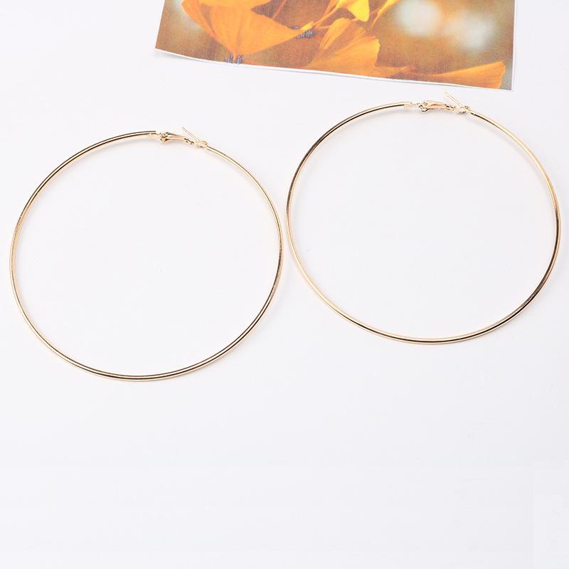 Мода 20pair Модный Большой обруч серьги Большой Smooth круг серьги Баскетбол Brincos Celebrity Brand Loop серьги для женщин
