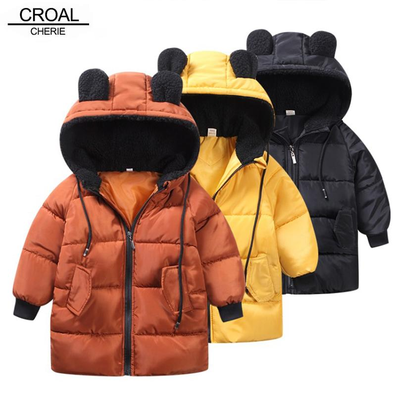 Animal Toddler Baby Girls Clothes Winter Jackets for Boys Coat Kids Warm Outerwear Coats for Girls 90-130Cm