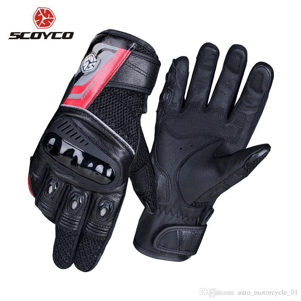SCOYCO Motorrad-Handschuhe Breathable Wearable Leder Racing Handschuhe Motorrad Gant Moto Motocross Guantes Moto Motorrad