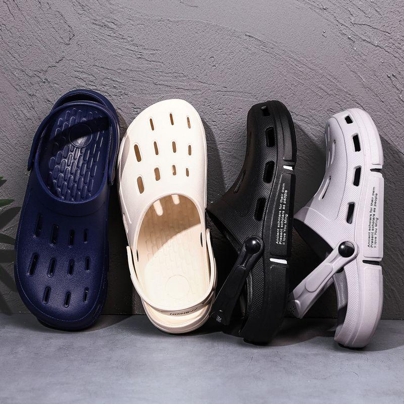 Größe 40-45 Garden Clog Schuhe Herren Quick Dry Gelegenheitshauspantoffeln Male Zehensandale Anti Skid Badezimmer Slippers