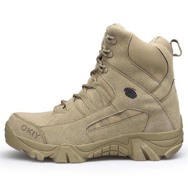 Bottes hiver cheville militaire Hommes Mode neige Chaussures de travail confortable Armée Desert Combat Chaussures HX-097