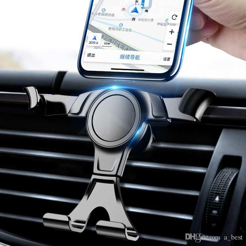 Suporte do telefone da montagem da montagem do carro da gravidade no suporte de grampo de ventilação do ar do carro nenhum suporte magnético do telefone móvel suporta suportes para Smartphones