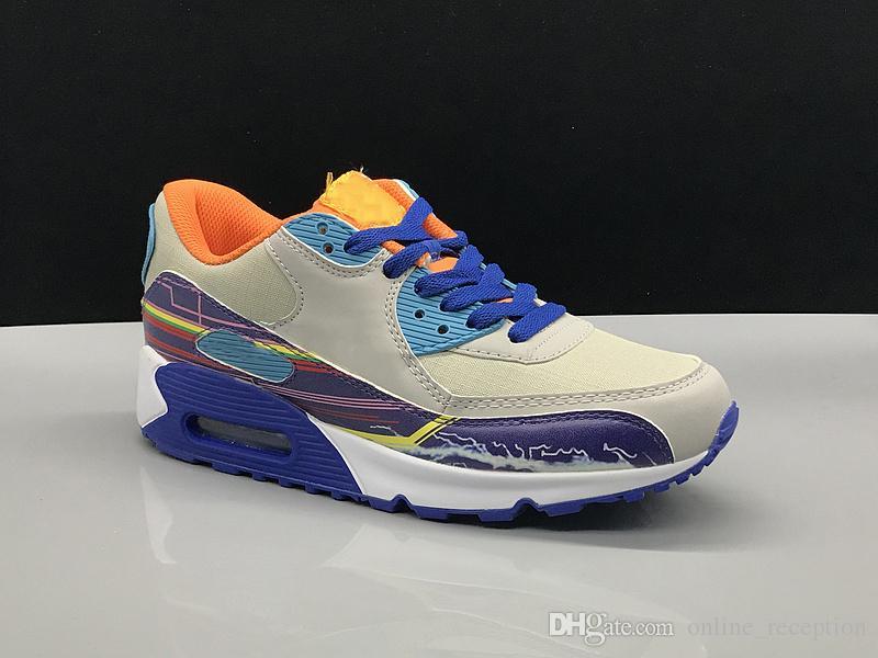 Großhandel Nike Air Max 90 Junge Mädchen Junge 90 Magische Taste Kid Laufsportschuhe Kinder Sneaker Size28 35 Von Online_reception, $87.53 Auf