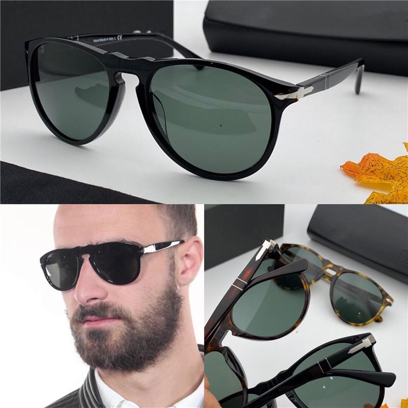 Moda tasarımcısı deri çanta bağbozumu Retro üst kalite ile 9649 klasik retro havacı çerçeve cam mercek UV400 koruyucu gözlük güneş gözlüğü