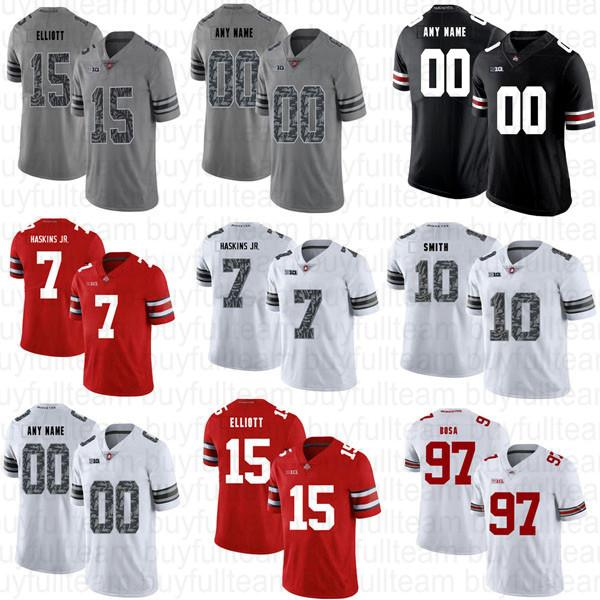 Dwayne Haskins Jr Troy Smith Ezequiel Elliott Joey Bosa Troy Smith Eddie George NCAA CUSTOMISTA CUSTOM UNIRSEÑO OHIO ESTADO DE BUCKEYES JERSEYS
