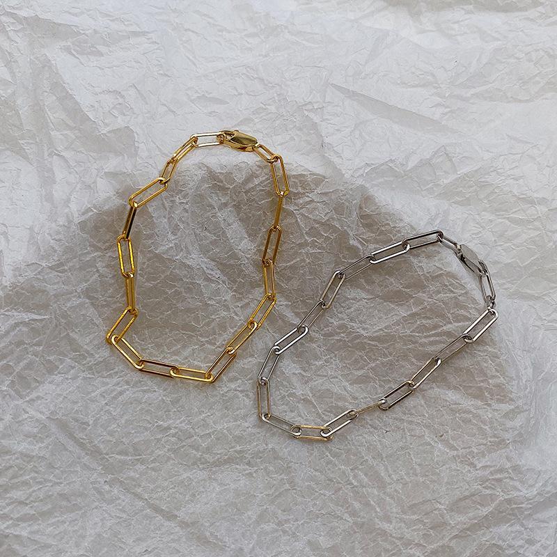 Silvology стерлингового серебра 925 пробы широкая цепь браслеты для женщин темперамент минималистский холодный стиль Матч манжеты браслеты изысканные ювелирные изделия