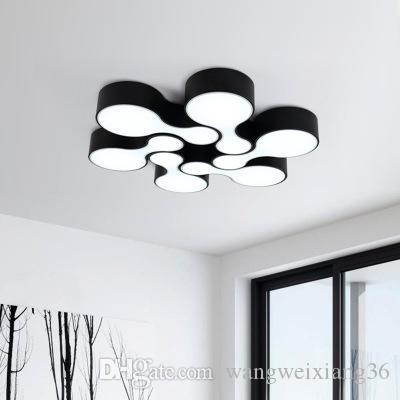 Lampe de l'art et du design] minimaliste de bowling en noir et blanc classique LED la salle de séjour de la chambre absorber la lumière du dôme