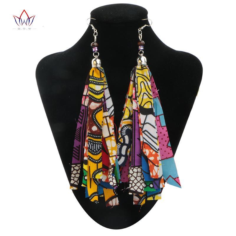 2019 новая мода африканские аксессуары для женщин Богемия стиль женщины серьги африканские хлопчатобумажные ткани серьги для подарка WYB29