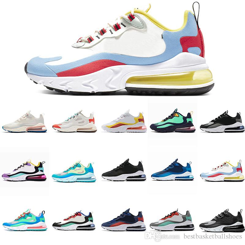 Air react men women running shoes BAUHAUS OPTICAL BLUE VOID Light Beige Chalk HYPER JADE fashion womens trainers breathable sports sneakers