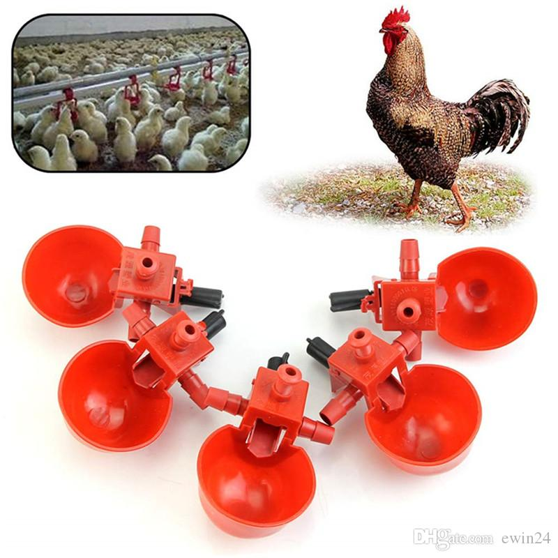 Alimentazione automatica Pollame Acqua potabile Coppe Uccello Coop Pollo Fowl Bevitore