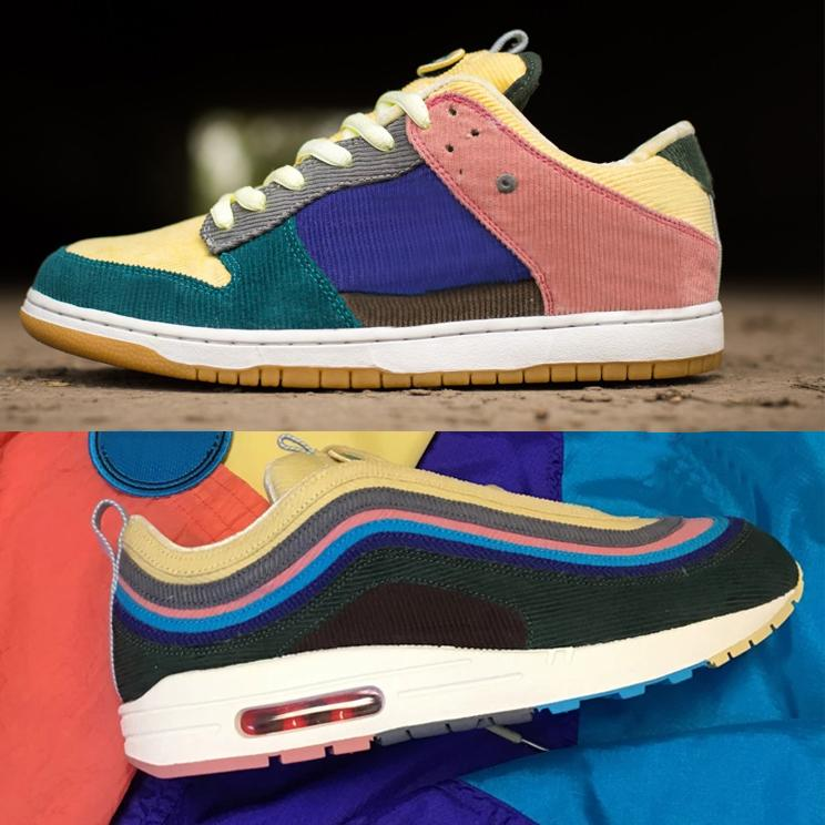 Tom Audreath Medio Puede ser ignorado  Custom SW Sean Wotherspoon SB Dunk Skateboarding 1/97 VF SW Hybrid Corduroy  Running Shoes 90s Men Women Blue Yellow Outdoor Sports Sneakers Good  Running Shoes Skechers Running Shoes From Greenjersey, $41.53| DHgate.Com