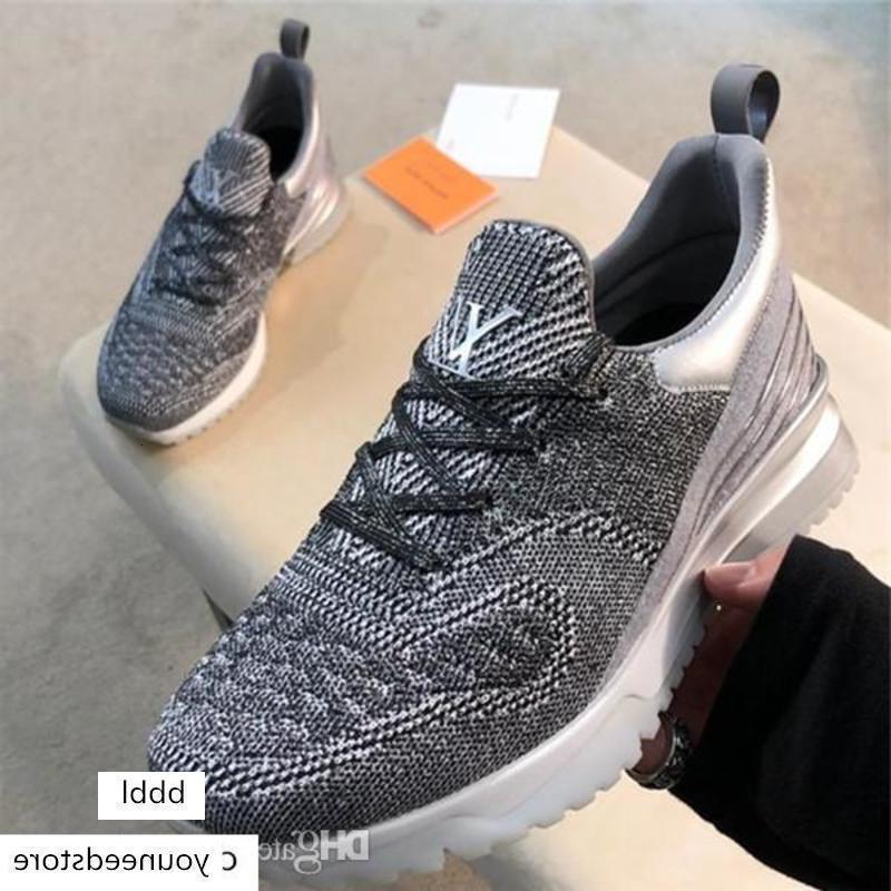 Luxe Classique V.n.r Sneaker Avec entièrement tricotée supérieure Hommes Respirant Chaussures Designer Casual Chaussures confortables en bas coloré avec la boîte